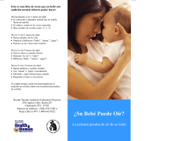 WV DHHR - OMCFH - REP - NHS - Can Your Baby Hear?