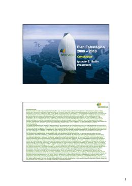 Plan Estratégico 2008 – 2010