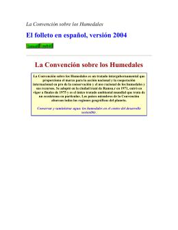 La Covención de RAMSAR_Sobre los Humedales