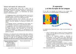 El esperanto y el Año Europeo de las Lenguas