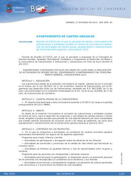 Asuntos Sociales- BOC - Ayuntamiento de Castro Urdiales