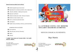 Folleto Campus 2014 - Comarca del Bajo Martín