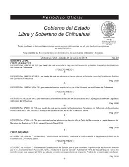 sábado 21 de junio del 2014 - Gobierno del Estado de Chihuahua