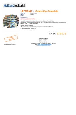LEFRANC - Colección Completa P.V.P: 372,00 €