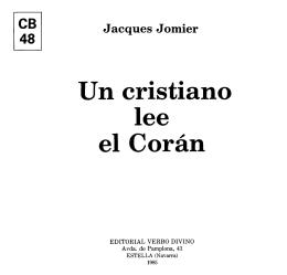 Jacques Jomier - Comunidad San Juan