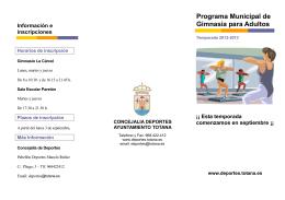 folleto actividades - Área de Deportes