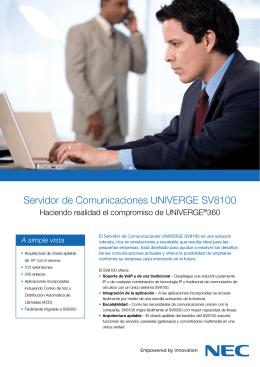 Servidor de Comunicaciones UNIVERGE SV8100