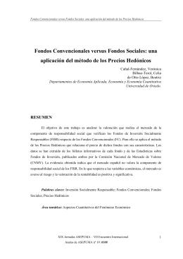 Fondos Convencionales versus Fondos Sociales: una aplicación