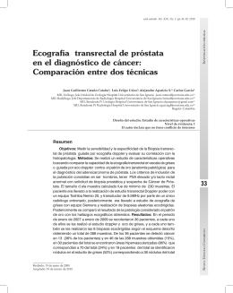 Ecografía transrectal de próstata en el diagnóstico de cáncer
