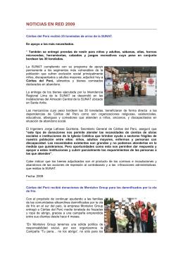 Noticias 2009 - Cáritas del Perú