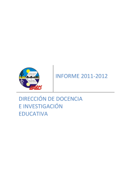 1er INFORME 2011-2012 DDIE - Universidad Autónoma de Baja
