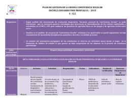 PLAN DE GESTION DE LA BUENA CONVIVENCIA ESCOLAR F-322