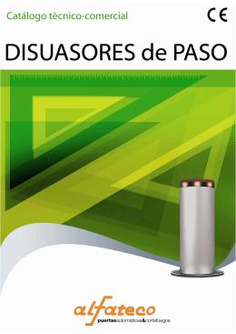 Catálogo técnico-comercial disuarores de paso