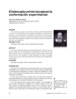 El telescopio y el microscopio en la conformación experimental