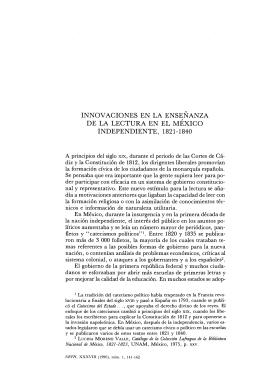 Innovaciones en la Enseñanza de la lectura en México Independiente