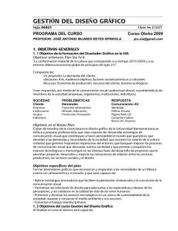 Programa del curso - Departamento de Diseño UIA