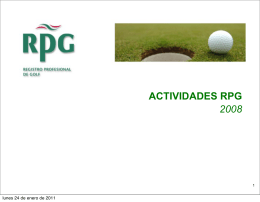 2008 - Registro Profesional de Golf