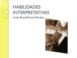 HABILIDADES INTERPRETATIVAS