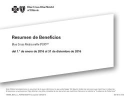 Resumen de Beneficios - Blue Cross and Blue Shield of Illinois