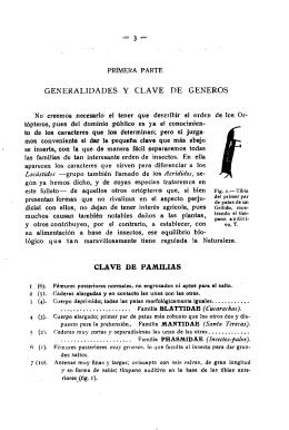 GENERALIDADES Y CLAVE DE GENEROS