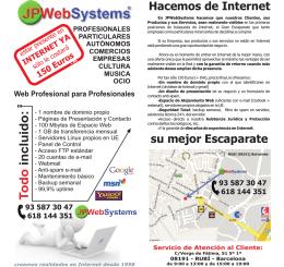 T odo incluido: - JP Web Systems