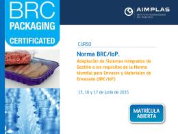 BRC/IoP - AIMPLAS