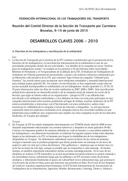 DESARROLLOS CLAVES 2006