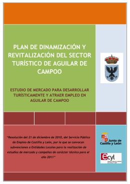 plan de dinamización y revitalización del sector turístico de aguilar