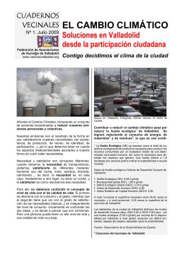 Cuadernos Vecinales: «El cambio climático