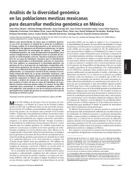 Análisis de la diversidad genómica en las poblaciones mestizas