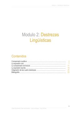 Modulo 2: Destrezas Lingüísticas