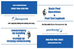 Basic Pool Operations & Pool Test Logbook