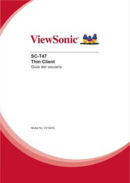 SC-T47 Thin Client Guía del usuario
