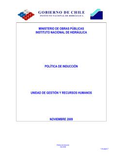 Política de Inducción - Instituto Nacional de Hidráulica