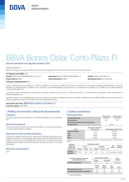 BBVA Bonos Dólar Corto Plazo, FI