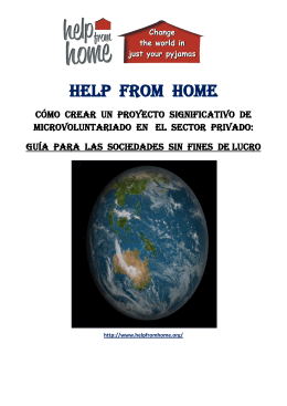 qué hacer - Help From Home