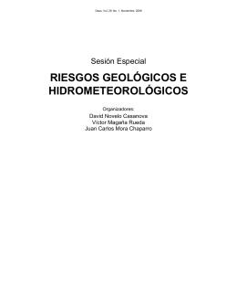 Riesgos geológicos e hidrometeorológicos