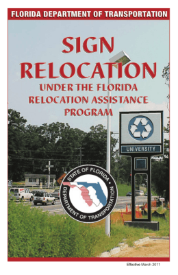 Effective March 2011 - Florida Department of Transportation