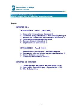 Los proyectos europeos: - Servicio de Programas