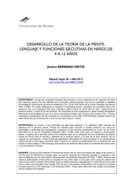 Desarrollo de la teoría de la mente, lenguaje y funciones