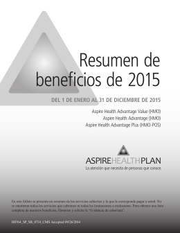 beneficio - Aspire Health Plan