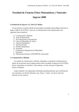 Informe 1 - Facultad de Ciencias Físico Matemáticas y Naturales