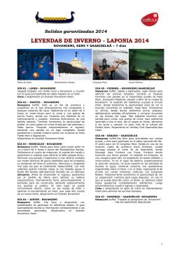 LEYENDAS DE INVERNO - LAPONIA 2014