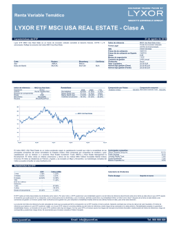 LYXOR ETF MSCI USA REAL ESTATE - Clase A