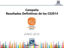 Campaña de Resultados Definitivos Censos Económicos