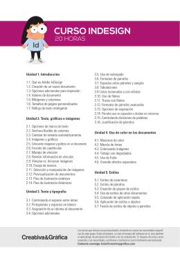 indesign_creativaygrafica - Diseño gráfico y web freelance en Bilbao