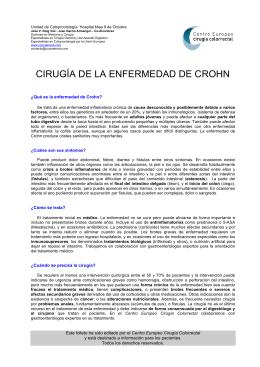 CIRUGÍA DE LA ENFERMEDAD DE CROHN