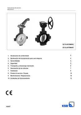 Instrucciones de servicio - KE ELASTOMER & PLASTOMER