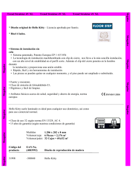 Descarga folleto Hello Kitty datos técnicos aquí.