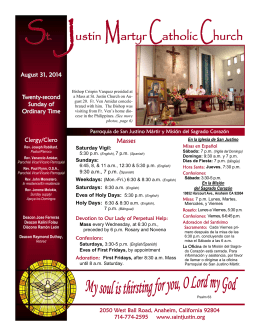 St. ustin Martyr CatholicChurch - St. Justin Martyr Church